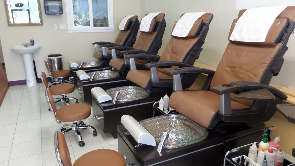 Our comfortable manicure chairs will pamper you!